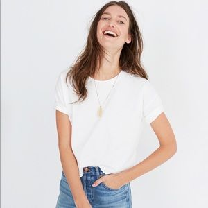 Madewell white crop tee Top seller *Brand New*